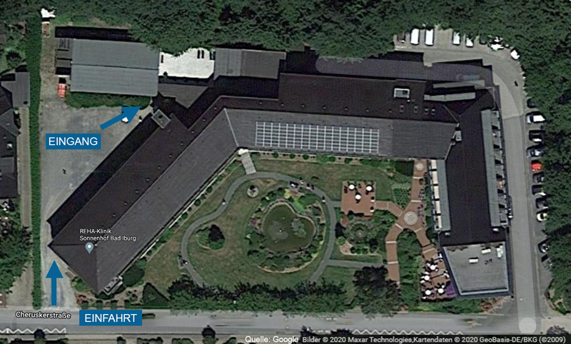 schwimmschule bad iburg trentmann rehaklinik sonnenhof anfahrt eingang